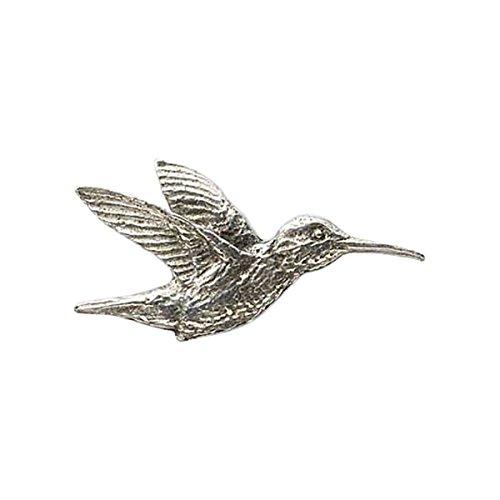 Creative Pewter Designs, Pewter Hummingbird, Handcrafted Bird Lapel Pin Brooch, Antique Finish, (Hummingbird Bird Pin)