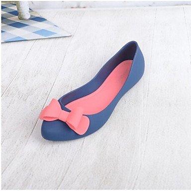 RUGAI-UE Moda de Verano Mujer sandalias casuales zapatos de tacones PU Confort,Plata,US8 / UE39 / UK6 / CN39 Blue