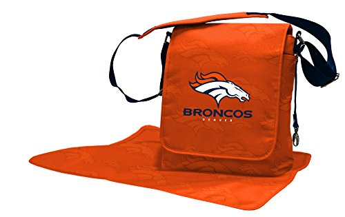 Wild Sports NFL Denver Broncos Messenger Diaper Bag, 13.25 x 12.25 x 5.75-Inch, Orange by Wild Sports