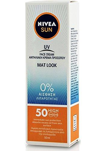 Nivea Sun UV Sunscreen Face Shine Control Cream for Mat Look SPF50, 50ml ()