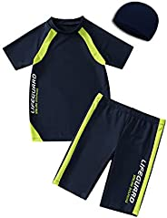 KID1234 Swimsuits for Boys - 2 Piece Set Boys Swimsuit,Wetsuit for Kids 4-12 Years ...