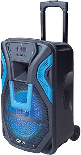 QFX PBX-61158/BL Portable Battery Powered Speaker