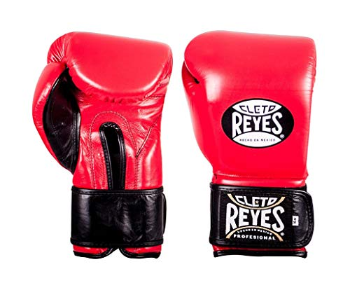 Cleto Reyes Hook & Loop Boxing Training Extra Padding Gloves (Red - Extra Padding, 16 - Reyes Punch Cleto