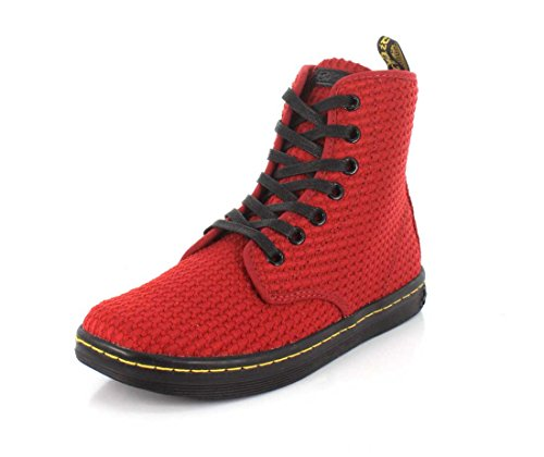 Boot Avvio Martens Donne Women's Martens Nero Dark Shoreditch Delle Rosso black Red Scuro Shoreditch Dr Dr zqIw8xUA8