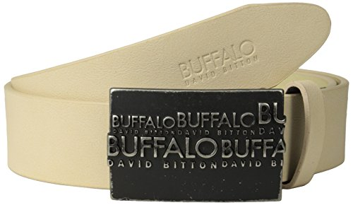 Logo Plaque Buckle Belt (Buffalo Men's Casual Belt with Raised Logo Plaque)