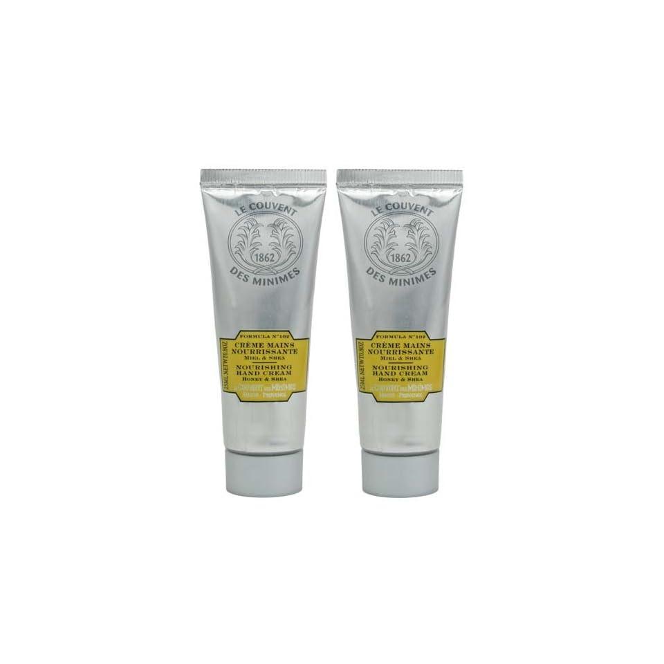 Le Couvent Des Minimes Formula No. 102 Honey and Shea Repairing Hand Cream Travel Size   Set of 2   0.8 oz (25 ml) each