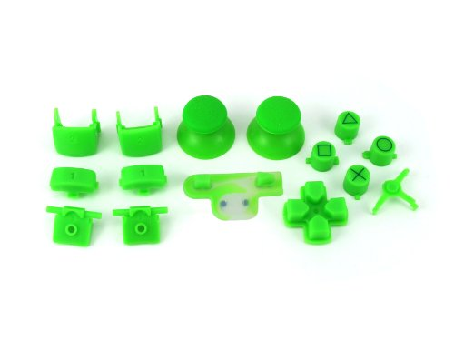ps3 lime green full parts set thumbsticks buttons dpad