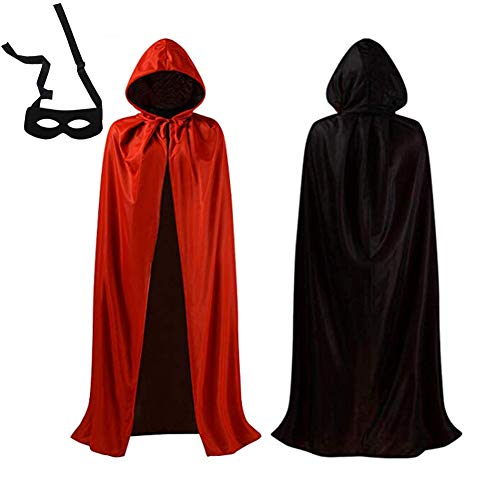 F.O.T Vampire Cape Halloween Hooded Cloak Robe Costume Red Black Medieval Easter Christmas Party Cosplay 41