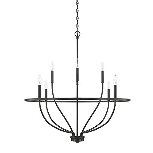 - Capital Lighting 428581MB Homeplace/Greyson - Eight Light Chandelier, Matte Black Finish