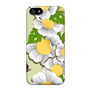 New Arrival Case Cover With GoioZmN804uPVmK Design For Iphone 5/5s- Flower Parade Ladybugs