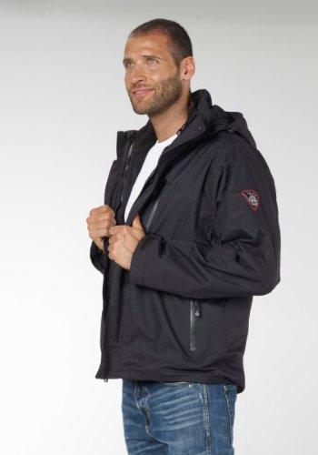 3in1 Doppel-Jacke Freizeit-Jacken für Herren von Fifty Five - Alaska black 3XL - mit wasserdichter FIVE-TEX- Membrane für Outdoor-Bekleidung