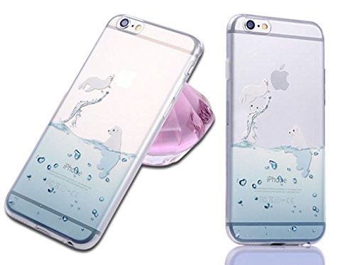 Case for Iphone 5 5s, Cute Cartoon Dolphin Penguin Whale Seal Polar Bear Sea Lion Animal Design Matte Slim Fit Clear Soft TPU Cover Case for Iphone 5 5s (Sea Lion) (Seals Iphone 5s Case compare prices)