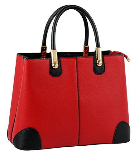 Ubasics Women's Colorblock Back Pack Wine Red One Size