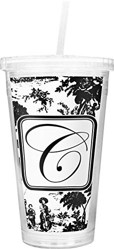 (Toile Double Wall Tumbler with Straw (Personalized))