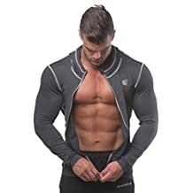 Men's Workout Compression Hoodies Gym Running Jacket