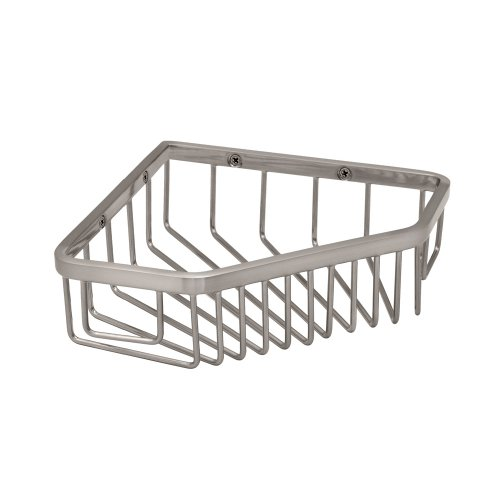 Gatco 1515 8-1/2-Inch Shower or Tub Corner Basket, Satin (Gatco Satin Shower Caddy)