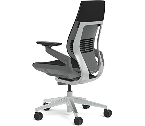 Steelcase Gesture Office Chair Wrapped Back Light On