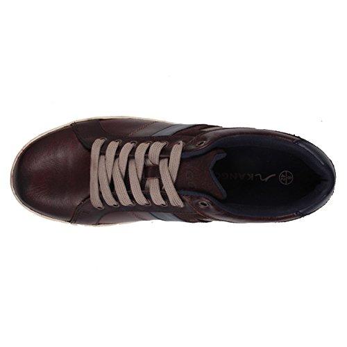 Kangol Heren Canary Casual Trainers Lace Up Dagelijkse Schoenen Lederen Panelen Donkerbruin