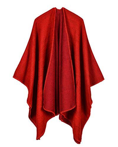 Colore caldo Stile Cape Cappotto A Cardigan Scialle Mantelle Poncho normale Donne Maglia F Inverno Sciarpa spesso A7FSBS
