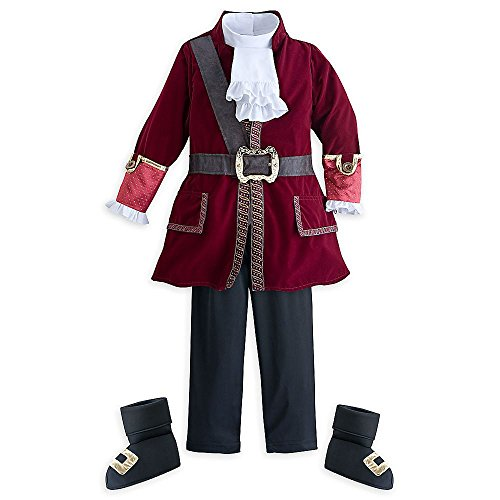 [Disney Store Deluxe Captain Hook Halloween Costume Kids Size XXS 3 3T] (Captain Hook Costumes Disney)