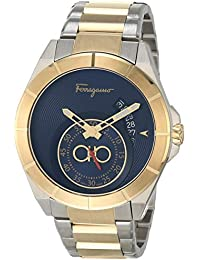 Analog Quartz Watch with Stainless Steel Strap, Two Tone, 20 (Model: 7630030554681)
