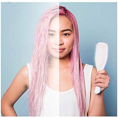 Hair Brush Straightener Hair Comb Hair Styling Anti-static Straight Detangling Massage Combs for Salon Styling Women Girls Hair-Pink  g8vBa