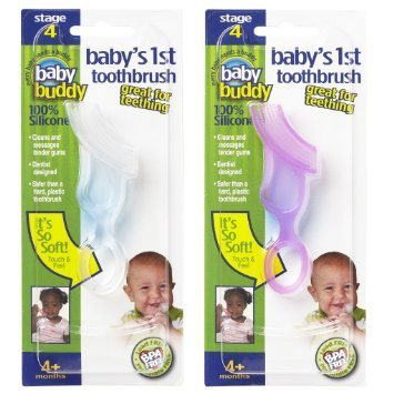 Baby Buddy Baby's 1st Toothbrush Teether—Innovative 6-St