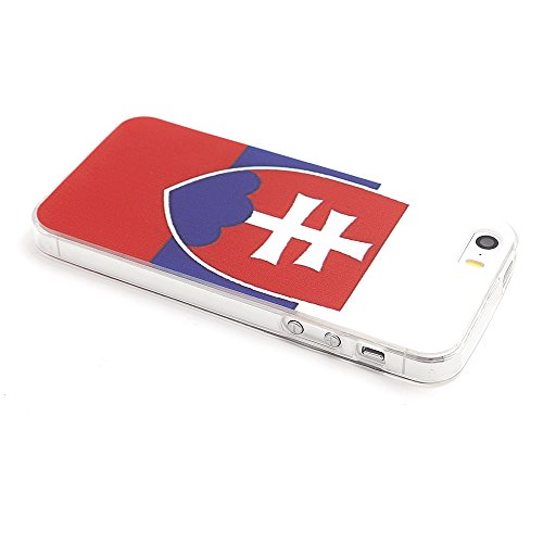 iProtect Apple iPhone 5 5s SE Soft Case Housse en TPU 0,3mm Slovaquie