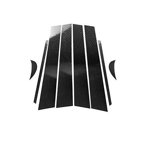 hors Carbon Fiber Door Window B+C Pillar Post Panel Frame Decal Cover Trim for Toyota Camry 2018+ ()