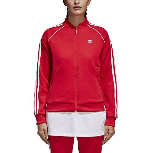 adidas Originals Womens Superstar Tracktop, Radiant Red, S