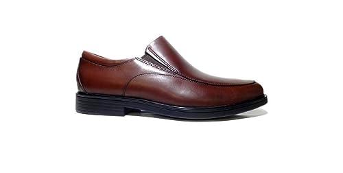 Clarks - Mocasines de Piel Lisa para Hombre Marrón marrón, Color Marrón, Talla 7.5: Amazon.es: Zapatos y complementos