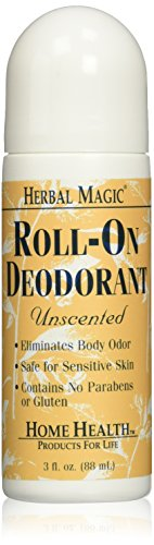 Home Health Herbal Magic Roll-On Deodorant, Unscented, 3 (Herbal Magic Deodorant)