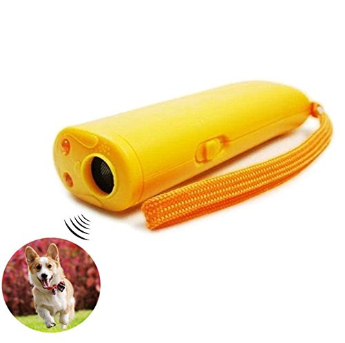 Super Bark Stop Ultrasonic Barking (Pet Training Device with LED 3 in 1 Anti Barking Stop-Barking Ultrasonic Dog Repeller)
