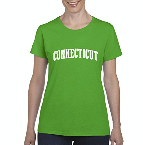 Ugo CT Connecticut Map Flag Bridgeport Home of State University Yale Hartford Women's T-shirt Tee - Shops Village Bridgeport