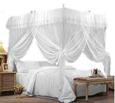 (IFELES 4 Corners Bed Canopy Twin Full Queen King Mosquito Net (FULL/QUEEN))