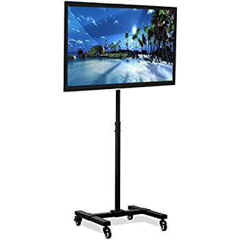 tv stand with wheels Amazon.: Mount It! Mobile TV Stand with Wheels, Adjustable  tv stand with wheels