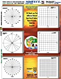 MiniPLOT Graph Paper Kit: Polar & XY coordinate grid designs for TRIGONOMETRY printed on 3x3'' Sticky Note pads. 50 adhesive backed sheets per pad. Pads mounted on 8.5x11'' cardstock.