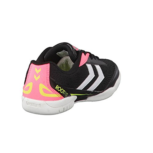 Hummel Zapatillas de balonmano infantil Root Jr Lace 60409 Safety Yellow/Black