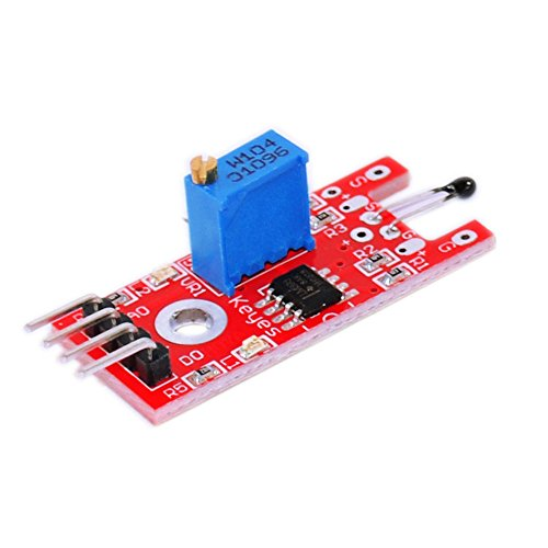HUABAN 3 Pack KY-028 Smart Electronics 4pin Digital Temperature Thermistor Thermal Sensor Module Switch for Arduino DIY Starter ()