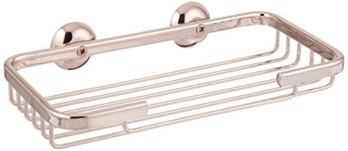 Rohl BSK14PN Bsk14 Wall Mounted Rectangular Soap Basket, Polished - Soap Basket Wall Mounted
