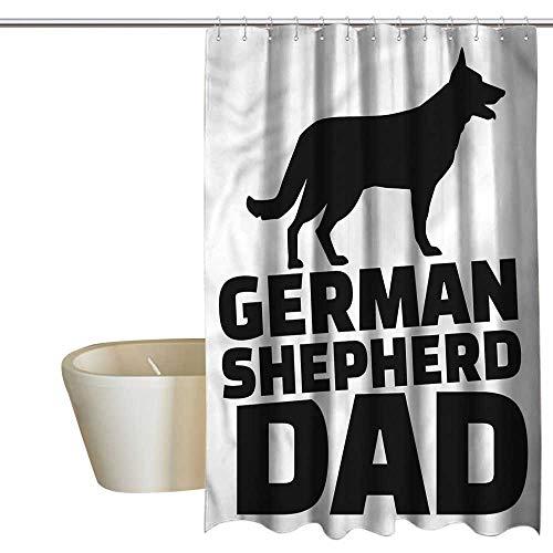 (RenteriaDecor Shower Curtains for Bathroom Blue German Shepherd,Alsatian Dog Dad,W48 x L84,Shower Curtain for)