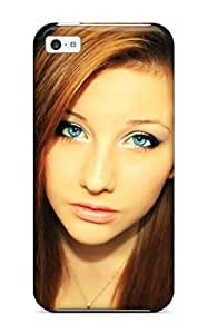 New Green Eyes Redhead Female Woman Portrait Blue Girl People Women Tpu Skin Case Compatible With Iphone 5c