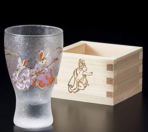Aderia Japan Rabbit MasuZake Glass (Japanese Sake Glass) w/Masu Box''promotion and advancement'' 6784 by Aderia Japan (Image #4)