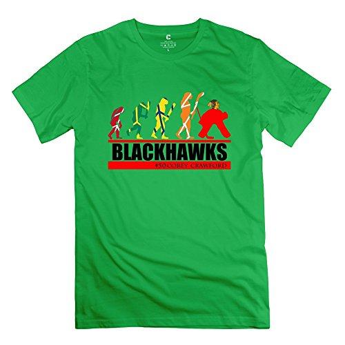 Men's Corey Crawford Evolution 100% Cotton T-shirt Size XXL ForestGreen