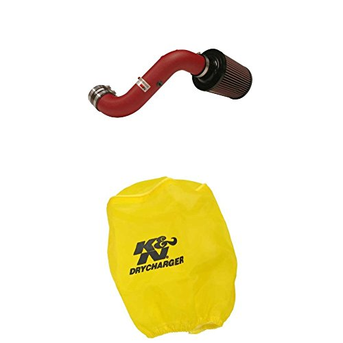K&N 69-1009TWR Performance Air Intake System with Yellow Air Filter Wrap