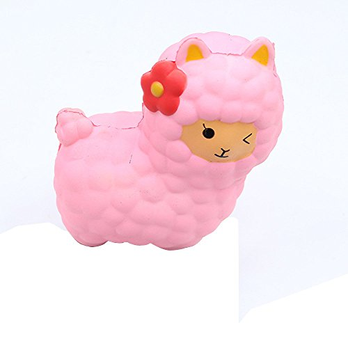 (AMOFINY Fashion Baby Toys New Jumbo Sheep Squishy Cute Alpaca Galaxy Super Slow Rising Scented Fun)