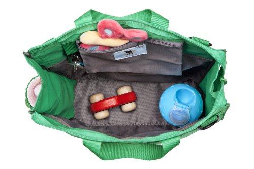 Lässig - Bolso para carricoche, diseño casual con estrella, color verde