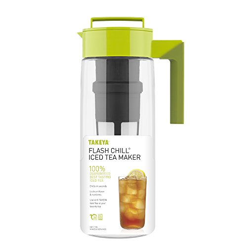 Takeya Iced Tea Maker with Patented Flash Chill Technology Made in USA, 2 Quart, Avocado by Takeya (Image #1)