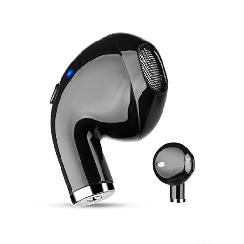 Bluetooth Earbud ANGGO Mini Single Ear Earphone Wireless Invisible Headphone with 4 Hour Playtime Car Headset with Mic for iPhone and Android Smart Phones by ANGGO