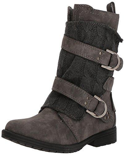 Sugar Round Boots (Sugar Women's Sgr-Jolla Combat Boot, Grey, 9.5 Medium US)
